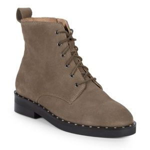 NWT Seychelles Taupe Suede Lace-up  Combat Boot 8